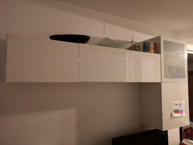 Mueble salón comedor ikea de color blanco de segunda mano ...