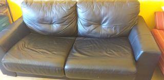 Vendo sofá cama de piel ( sin transporte)