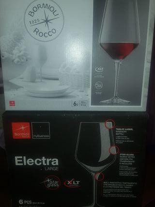 copas de vino cristal italiano