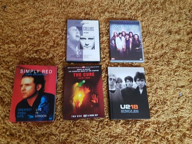 5 MUSIC DVDS