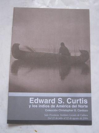 folleto exposición Edward S. Curtis indios América