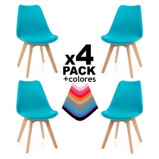 Pack 4 sillas de comedor,