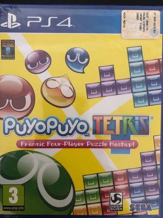 Juego ps4 Tetris puyo puyo totalmente nuevo