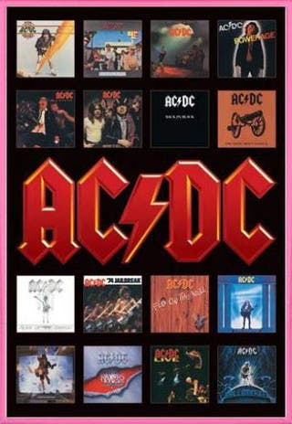 Poster Ac/dc Discos (sin marco)