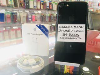 iPhone 7 128GB negro brillante factura gaurantia