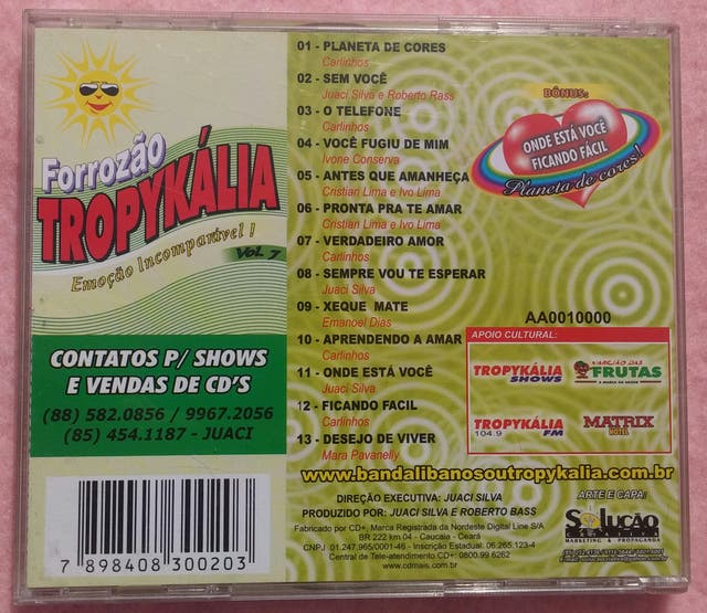 Forrozao Tropykália, Emoçao Incomparável! Vol. 7