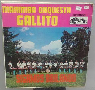 disco vinilo LP Marimba Orquesta Gallito