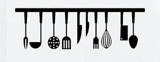 Vinilo decorativo utensilios de cocina
