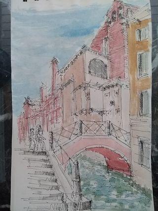 acuarela en venecia