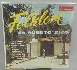 disco vinilo lp Folklore de Puerto Rico