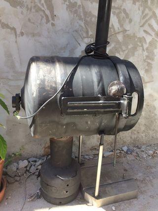 Horno carbón acero inoxidable