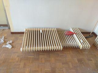 9 radiadores de hierro