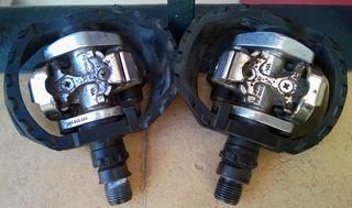 Pedales de bici automáticos SPD de SHIMANO PDM-424