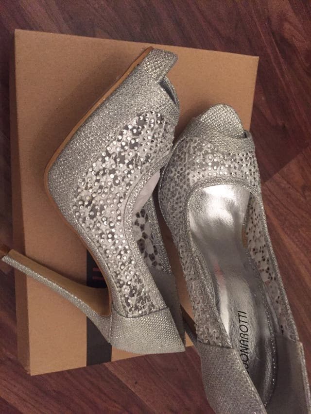 New: Sliver high heels/ Buonarotti brand