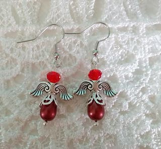 Angel theme pierced earrings