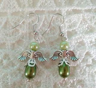 Angel theme pierced earrings