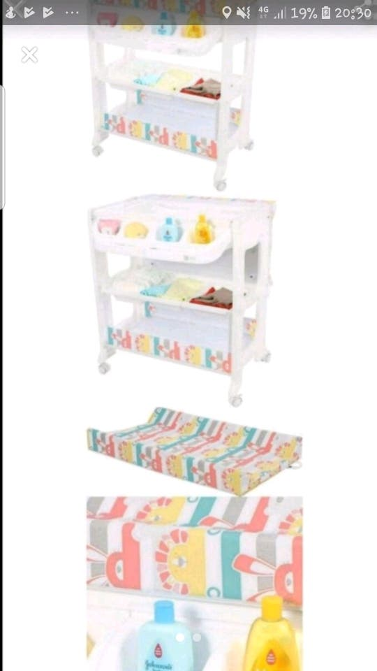 my child peachy baby changing table/ bath