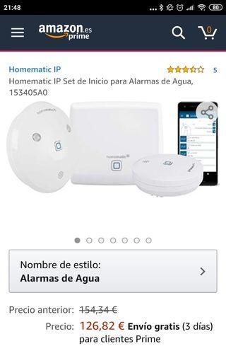 Sistema completo de alarma de agua