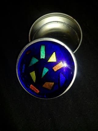 cajita hermetica redonda artesana