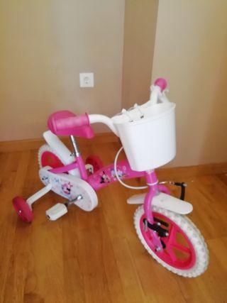 bicicleta niña minnie y daisy