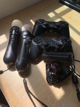Playstation move y mandos dual shock3 y videojuego