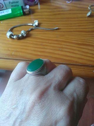 anillo antiguo de plata de ley
