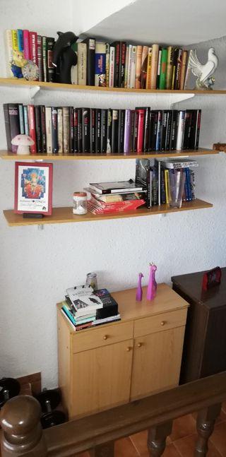 zapatero con cajones y estanterías para libros
