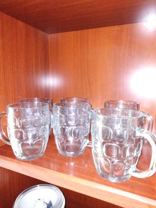 Lote 6 jarras de cerveza