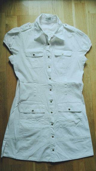 Vestido Blanco. Talla 36/38.