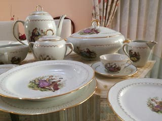 Vajilla Vintage porcelana francesa Limoge