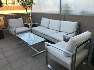 Conjunto de sofas para terraza