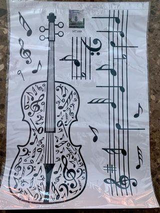 Lamina adhesiva de vinilo música