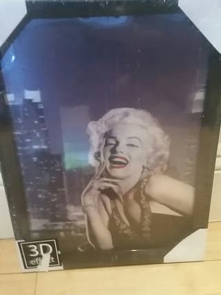 3d framed picture Marilyn Monroe