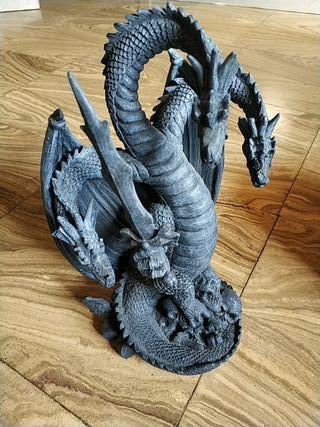 Figura Dragón 3 cabezas