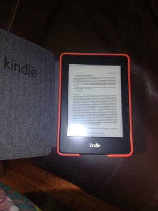 kindle paper white con funda original