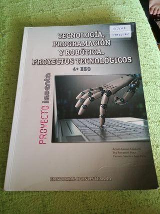 Libro Robotica 4° ESO ed. Donostiarra