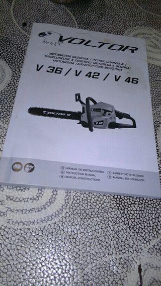 Manual de istrucciones motosierra voltor