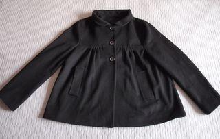Abrigo negro Zara Talla L