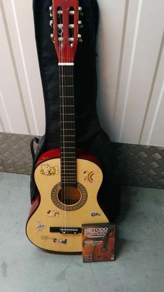 guitarra cadete, metodo y bolsa de transporte