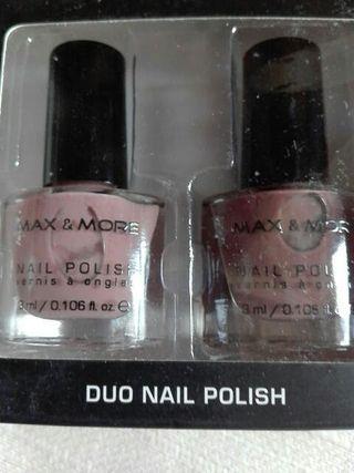 Duo esmalte uñas marrones con diamond glitters