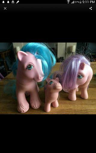1980s My Little Pony Family