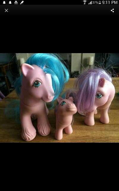 1980s My Little Pony Family