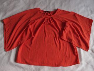 Blusa roja Zara Talla S