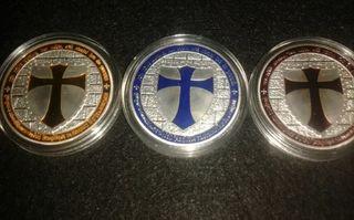 Lote 3 Monedas Templarias colección