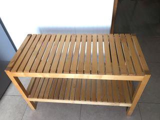 Banco madera Ikea Molger/ Estantería Mueble baño