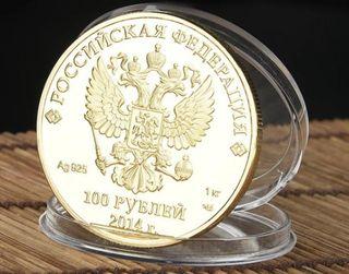 Moneda 925 en plata y bañada en oro de 24kl.