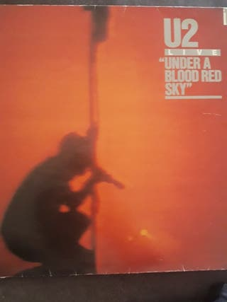"disco de vinilo ""U2 (under a blood red sky)"""