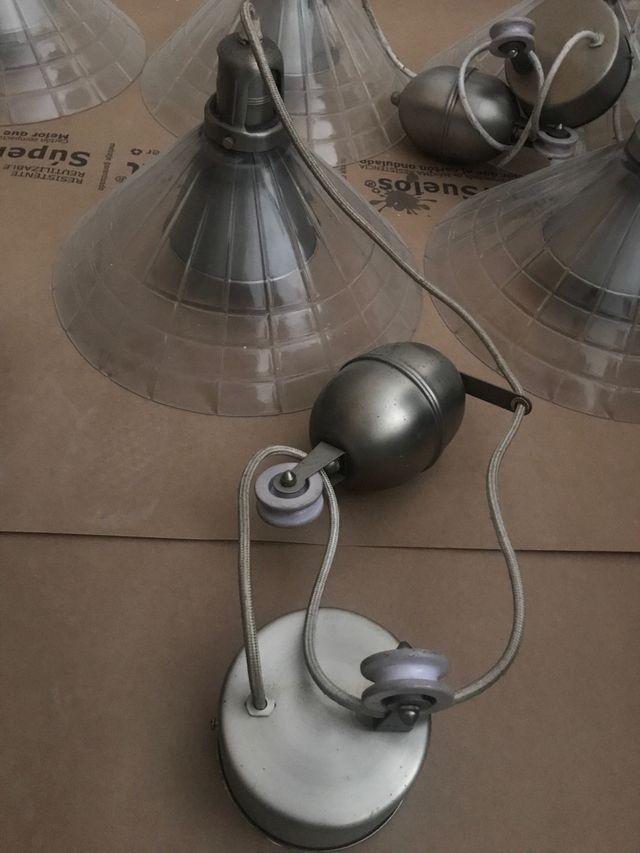 6 Lámparas cristal con contrapeso 6
