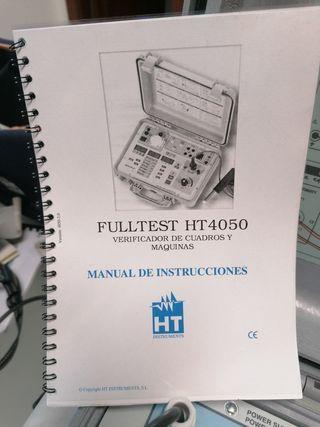 Verificador de cuadros y máquinas.FULLTEST HT4050