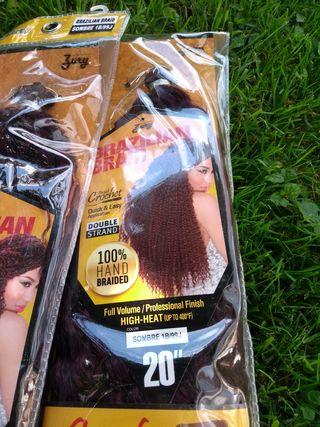 4 paquetes de estensiones para el pelo